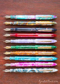 Edison Nouveau Premiere Seasonal Edition fountain pens exclusive to Goulet Pens. I want them all!!
