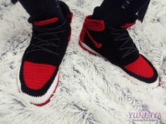 Men s slippers Nike Air jordan Knitted shoes Slippers by Yunisiya Knit Shoes 073b3ae46