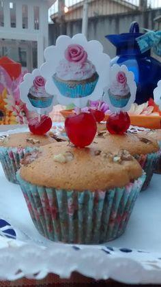 Bonito y dulce: Magdalenas Caseras con nueces y pasas .......prepa...