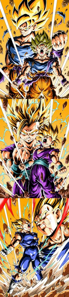 Goku Gohan and Vegeta Dragon Ball Z, Goku And Gohan, Son Goku, Evil Goku, Got Dragons, Ball Drawing, Manga Eyes, Illustration, Naruto
