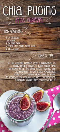 Helló, Chia! Próbáld ki ínycsiklandó és egészséges, áfonyás-fügés chia puding receptünket! #chia #chiapuding #afonya #fuge #reggeli #egeszseges
