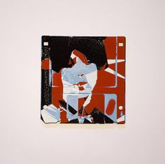From the ladies series #portrait #silkscreen #graphicart #artwork #delicious #marvellous #floppydisk #floppydiskism #dj #dominikjais #nykytaide #ladies  #abstractportrait . more at https://dominikjais.com by DJ