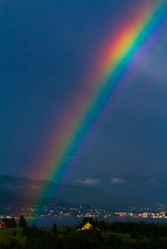 RAINBOWS HAVE A SPECIAL MEANING - GOD'S PROMISE TO NEVER FLOOD THE WHOLE WORLD AGAIN.
