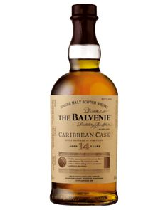Balvenie Caribbean Cask was created by The Balvenie Malt Master, David Stewart, who celebrated an incredible 50th anniversary at the distillery in 2012. This single malt has had a 14-year maturation period in traditional oak whisky casks, before being transferred to casks that previously held Caribbean rum to finish aging.
