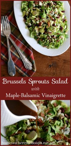 Brussels Sprout salad with Maple Balsamic Vinaigrette Dressing ...