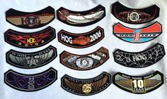 Lot of 11 Harley Davidson Hog Motorcycle Patch Set 2001-11 + 10 Yr Owners Patch #HarleyDavidson