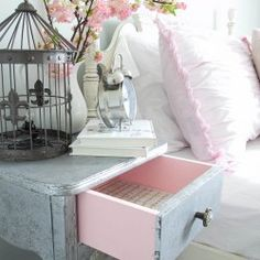 http://www.blesserhouse.com/2015/05/aged-metallic-decoupaged-nightstand.html