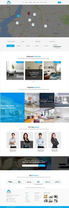 Real Estate is a wonderful #Photoshop template for all construction, #Property service and business websites with 3 homepage layouts and 13 organized PSD pages download now➩ https://themeforest.net/item/real-estate-psd-template/19319668?ref=Datasata