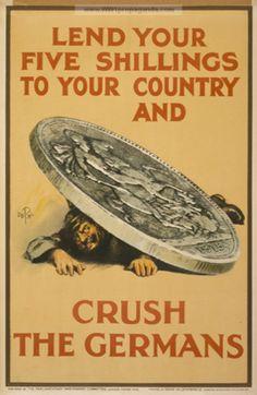 Ismeretlen művész: Lend your five shillings to your country (1915)