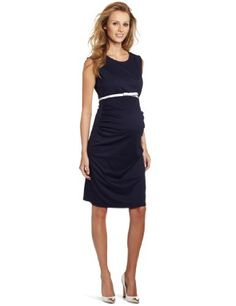 MORE of me Womens Maternity Marlow Sheath Dress, Navy
