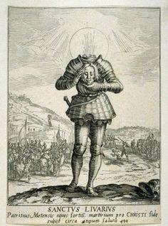 Saint Livier by Jacques Callot, 1632