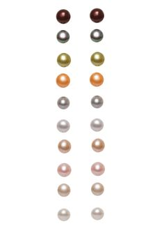 BELLE PEARLS  Set of 10 Pearl Earrings  $39.99