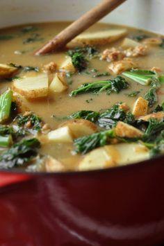 Spicy Sausage, Potato & Kale Soup - The Candid Appetite