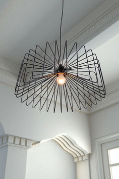 Foehn Black Ceiling Lamp by Zuo Modern Interior Lighting, Home Lighting, Modern Lighting, Pendant Lighting, Modern Lamps, Pendant Lamps, Ceiling Pendant, Timber Ceiling, Modern Ceiling