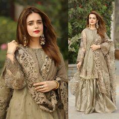 Fashion Style Two Asian Wedding Dress Pakistani, Pakistani Fancy Dresses, Party Wear Indian Dresses, Pakistani Fashion Party Wear, Indian Fashion Dresses, Dress Indian Style, Pakistani Dress Design, Pakistani Outfits, India Fashion