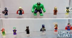Lego unveiled a smattering of their upcoming minifigs based on Marvel and DC Comics during Preview Night at Comic-Con International in San Diego.