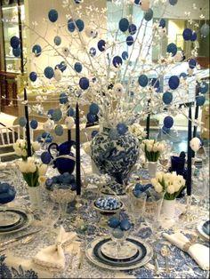 Nice blue table setting