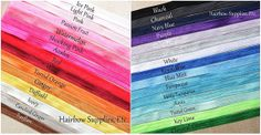 This is Solid fold over elastic 1 or more yards inch FOE - YOU CHOOSE Colors and Yardage - Shiny for Headbands Hair Ties Hairbow Supplies, Creaseless Hair Ties, Hair Bow Supplies, Embroidery Blanks, Green Candy, Glitter Ribbon, Printed Ribbon, Cheer Bows, Coral Blue, How To Make Hair