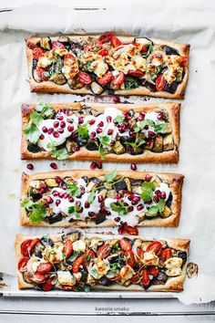 roasted eggplant tarts  | healthy recipe ideas @xhealthyrecipex |