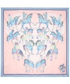 Silken Favours Trippy Kitty Scarf.  What's better than a psychedelic kitty scarf?  A psychedelic kitty with unicorn scarf, of course!
