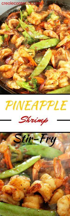 Spicy Pineapple Shrimp Stir Fry -Creole Contessa (Bake Shrimp Recipes)