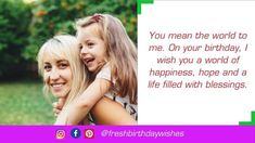Happy Birthday Mother Images Free Download - Happy Birthday Wishes Happy Birthday Mom Images, Happy Birthday Mother, Mom Birthday Quotes, Special Birthday, Happy Birthday Wishes, Image Mom, Mother Images, You Mean The World To Me, Mother Quotes