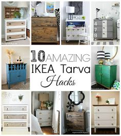 10 Amazing transformations of the basic IKEA Tarva Dresser. Small Space Interior Design, Interior Design Living Room, Ikea Tarva Dresser, Diy Home Interior, Ikea Furniture, Amazing Transformations, Home Projects, Decorating Your Home, Ikea Hacks