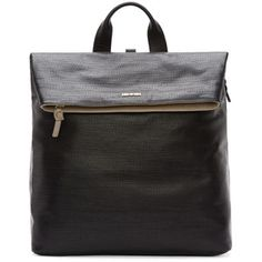 Mcq Alexander Mcqueen Black Textured Leather Backpack  SSENSE.COM