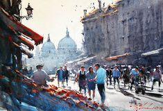 artist - Joseph Zbukvic \\ Watercolor.