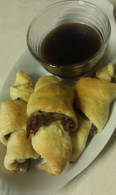 French Dip Crescents - Delicious
