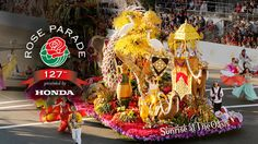 """Featuring lavish floral floats, high-stepping equestrian teams, marching bands from across the globe, a star-studded lineup of talent, hundreds of thousands of spectators lining the streets and millions more watching the telecast LIVE worldwide, """"The Tournament of Roses Parade"""" is the most popular New Year's Day celebration in the world."""