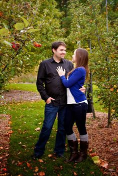 MSU Fall Garden Engagement Session. Tammy Sue Allen Photography.