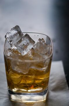 Scotch On The Rocks.Whether you're toasting to Bill Brasky or drinking alone feeling sad over a girl, scotch is the manliest drink.