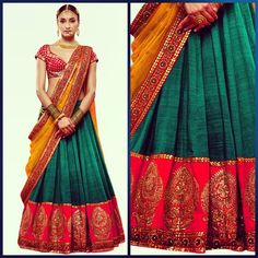 Sabyasachi. This is too beautiful not to republic even if I could never wear it