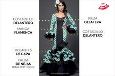 patrones base del traje de flamenca - ejemplo con vestido real