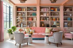 Pastel colours and wicker furniture clash playfully with the leopard print fabrics in this Miami hotel, created by American designer Ken Fulk for musician Pharrell Williams. Pharrell Williams, Soho Beach House, Miami Beach, Estilo Art Deco, Bungalows, Architectural Digest, Deco Miami, Piscina Do Hotel, Ken Fulk