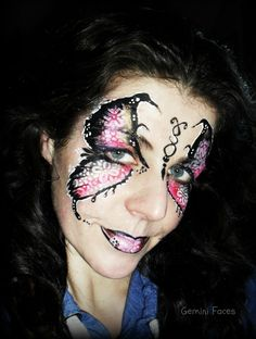 Stencil butterfly face painting