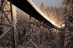 Moonlit Foss River Bridge - Skykomish, WA  By DWHonan