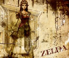 Princess Zelda - The Legend of Zelda: Twilight Princess; character only is Official artwork for the game