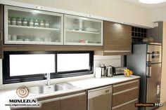 Industrial Kitchen Design, Kitchen Room Design, Modern Kitchen Design, Kitchen Interior, Space Saving Kitchen, Jolie Photo, Country Kitchen, Home Projects, Sweet Home