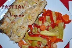 Pastrav cu legume la cuptor - RETETE DUKAN Dukan Diet, Cooking Recipes, Meat, Chicken, Ethnic Recipes, Food, Salads, Chef Recipes, Essen