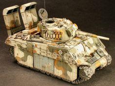 "U.S.M.C model 4 ""sherman"" medium tank with wading snorkels http://www.onefortyeight.com/gallery/shermanpj/index.html"