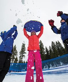 Ski & Sledding in Tahoe - Granlibakken, Tahoe City. $14/person for saucer rental and all day sledding.