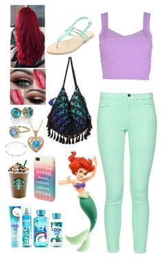 Ariel high school by girrr97 on Polyvore featuring polyvore, fashion, style, French Connection, 6 Shore Road and Aéropostale