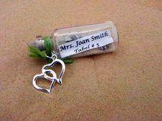 message in a bottle wedding centerpieces   CUSTOM MADE Mini Message in a bottle Bottle Place Card / Favor bottles ...