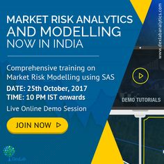 DexLab Analytics is organizing an live demo session on October, 2017 frotraining in Market 10 PM IST onwards. Be a part of this to know why risk is so much valued. Risk Analytics, Market Risk, 10 Pm, Risk Management, Organizing, Workshop, October, Marketing, Live