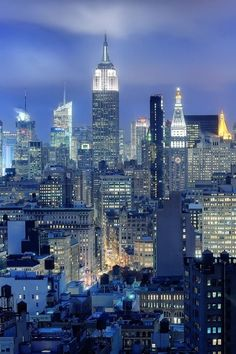 Blue skyline....Manhattan, New York City, NY