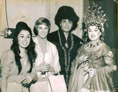 convivial-joy:  With Mirella Freni,  Julie Andrews, Birgit Nilsson after a 1966 performance of Puccini's Turandot!