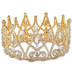 Zebratown Gold Bridal Full Tiara Crown Crystal Pageant Br... https://www.amazon.com/dp/B017AVJEP8/ref=cm_sw_r_pi_dp_x_cRUbybB7GE86F