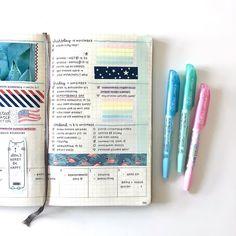 Personnaliser son bullet journal avec du masking tape.     Customize your Bullet Journal with masking tape